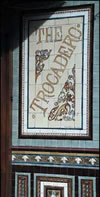 trocadero tiled sign