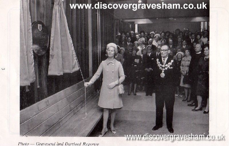 The Duchess of Kent opening the Civic Centre and Woodville Halls