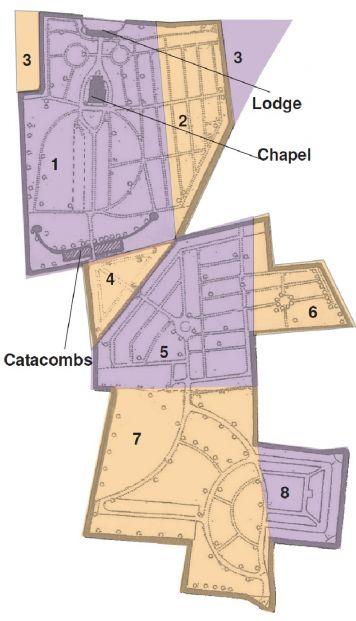 Map of Gravesend and Milton Cemetery