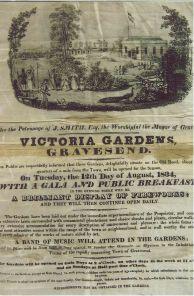Victoria Pleasure Gardens publicity poster
